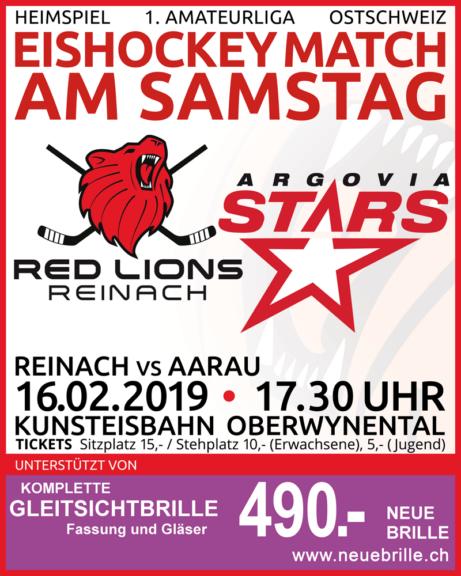 Red Lions Reinach, Argovia Stars, Heimspiel, 16.02.2019