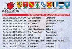 Red Lions Reinach – Saison 2019/20