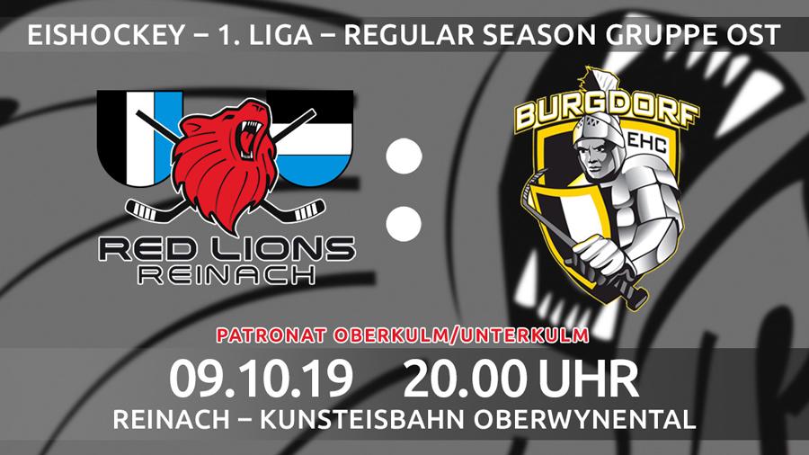 Red Lions Reinach, Heimspiel, EHC Burgdorf
