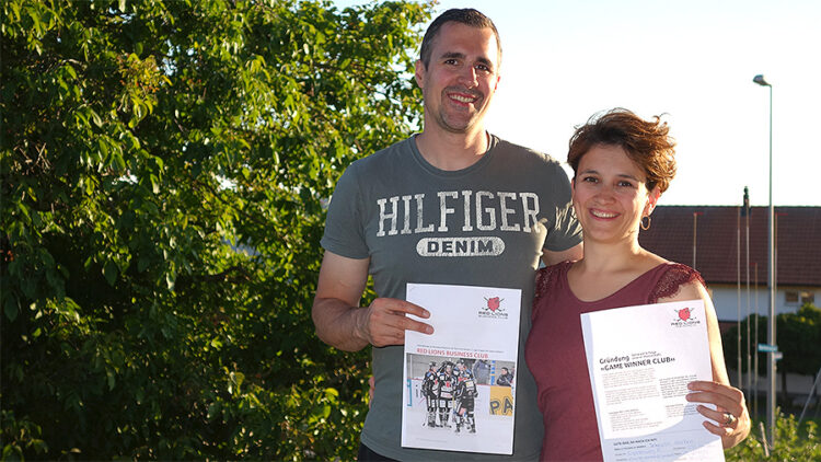 Red Lions Reinach, Captain Schnyder und Frau