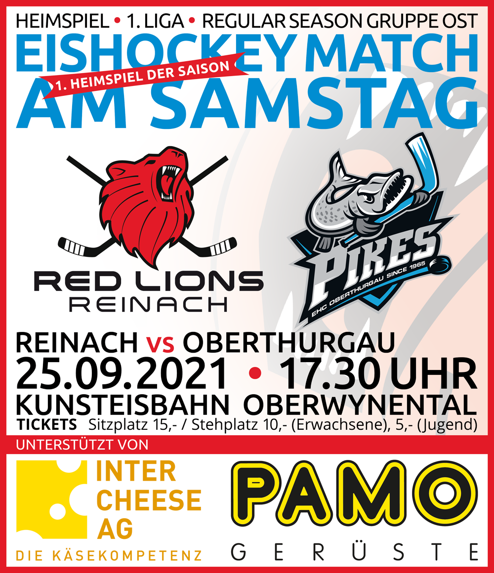 Red Lions Reinach vs EHC Pikes Oberthurgau