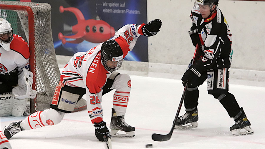Red Lions Reinach vs GDT Bellinzona, Saison 2021/22. Kevin Boschung